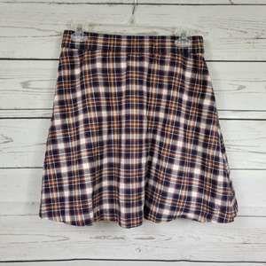 J CREW Frankie pop-on plaid wool blend skirt